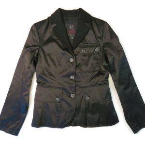 Belstaff Aviator Jacket Sz 44 EU Black Nylon